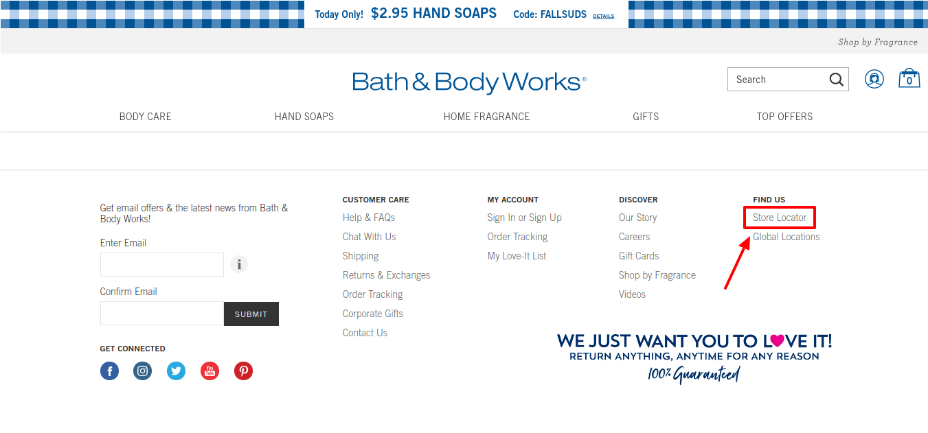 Bath Body Store Locator