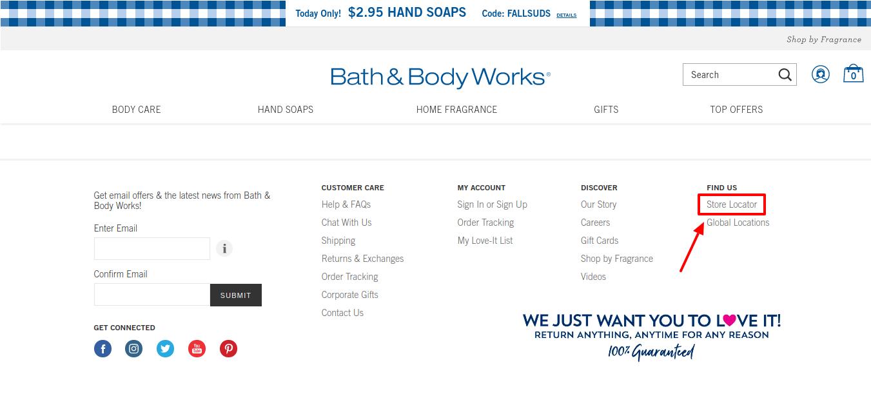 Bath Body Store Locator