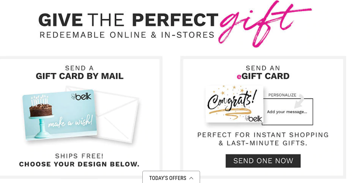 Belk 1800 Number >> Www Belk Com Gift Cards Shop Gift Cards Check Your Belk