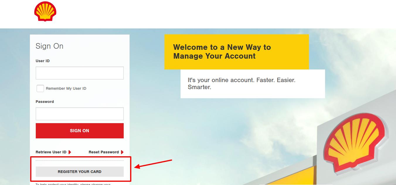 Shell Credit Card Register