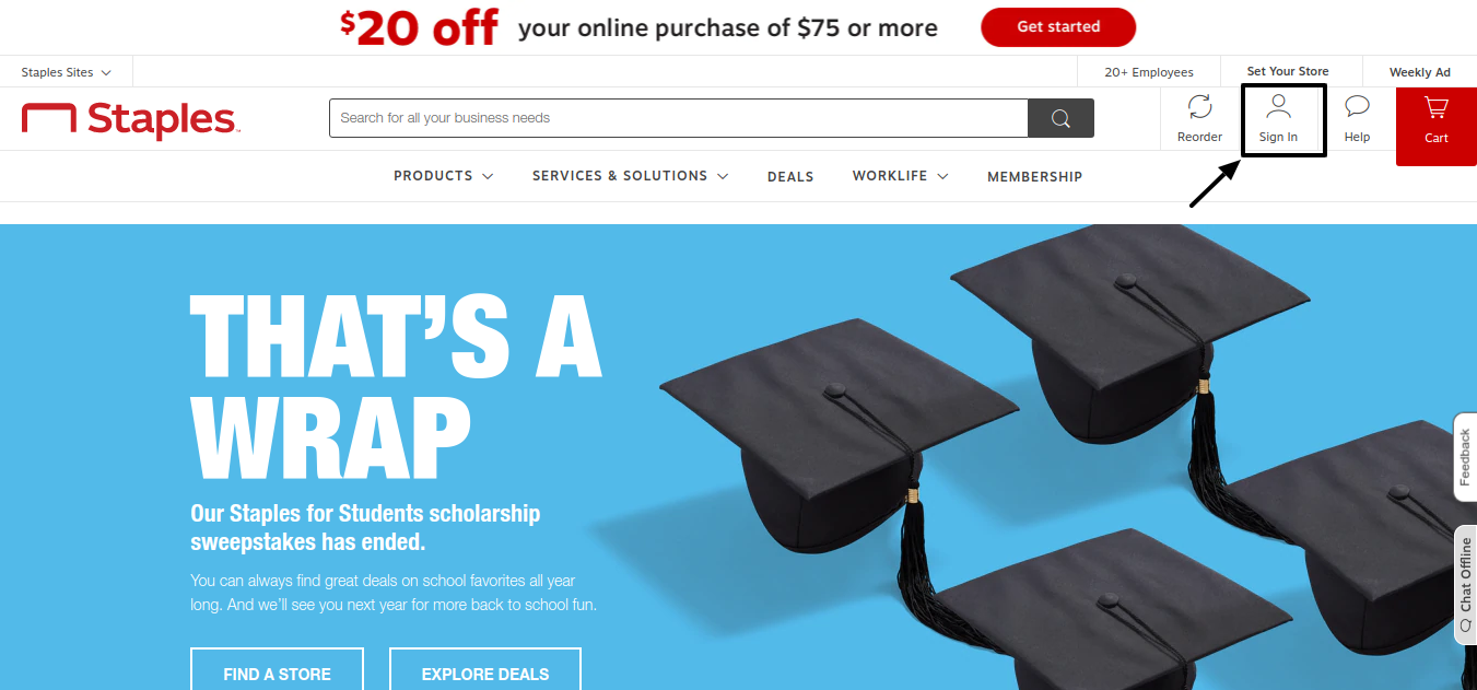 Staples for Students Scholarship Create Account