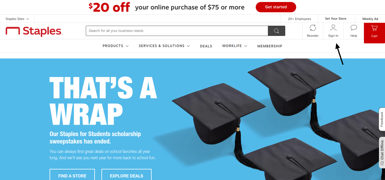 Staples for Students Scholarship Sign In