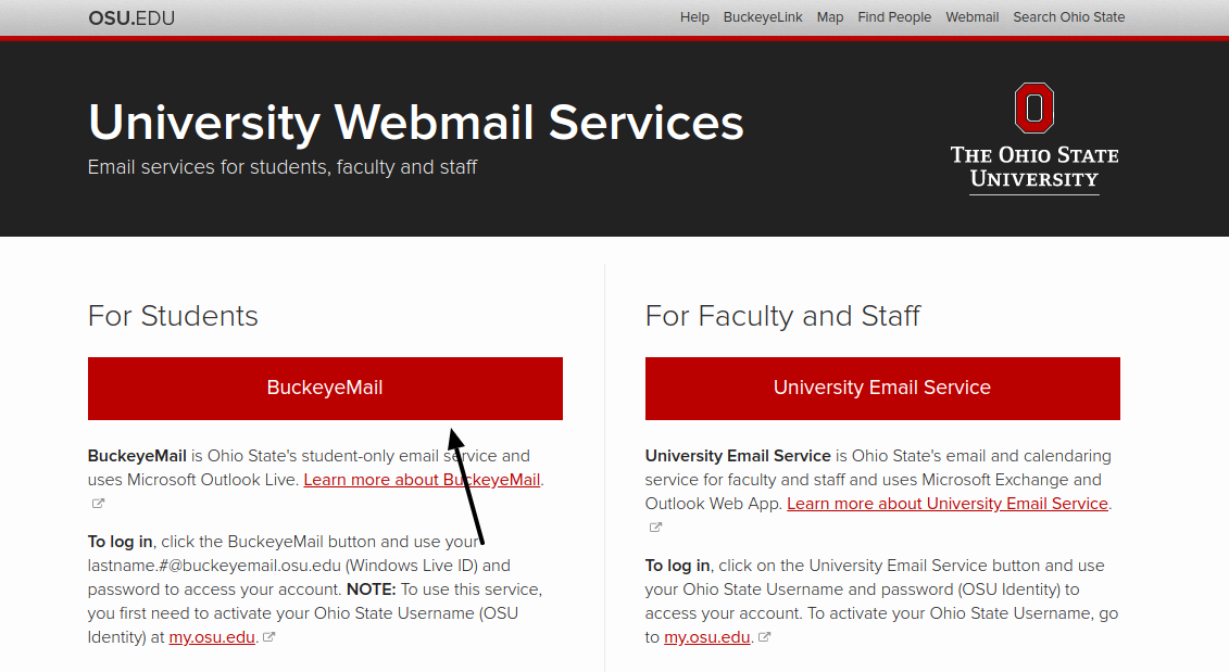 The Ohio State University Webmail Service