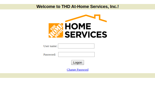 THD At-Home Services Login