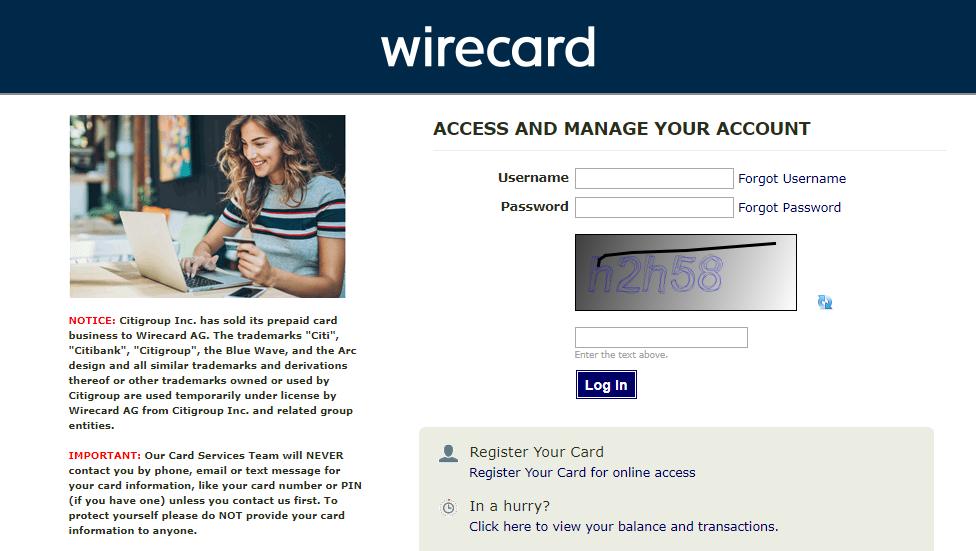 wirecard login