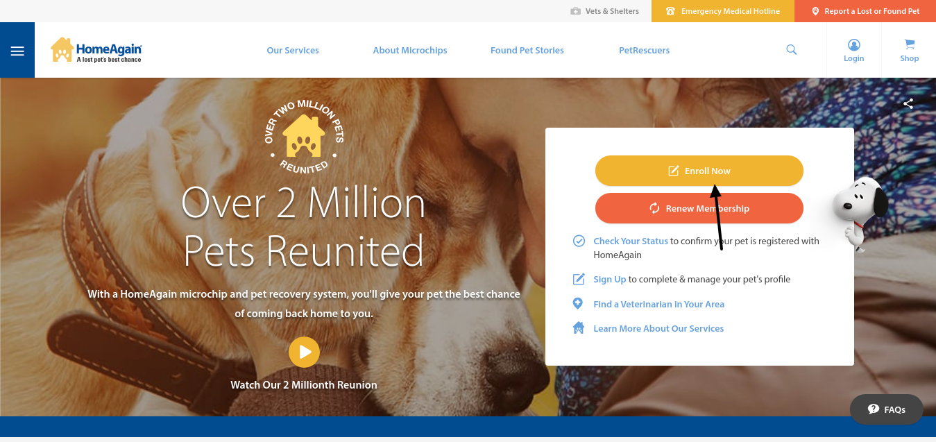 HomeAgain Pet Enroll