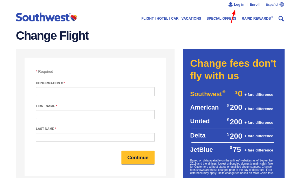 southwest login