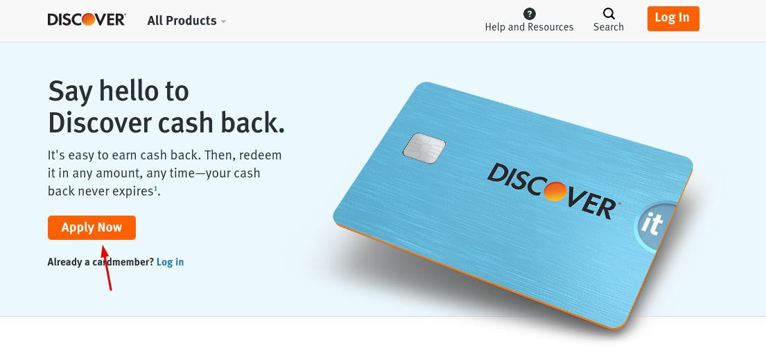 Gap Discover cash back card Apply