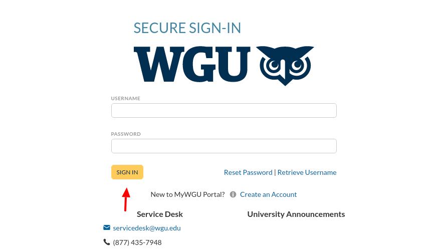 WGU Student Login