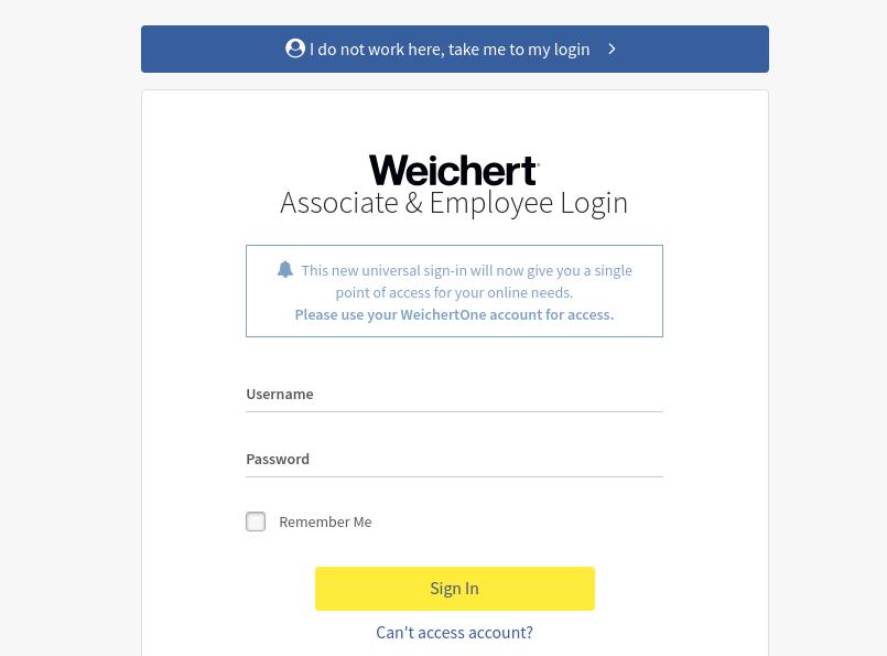 Weichert Sign In