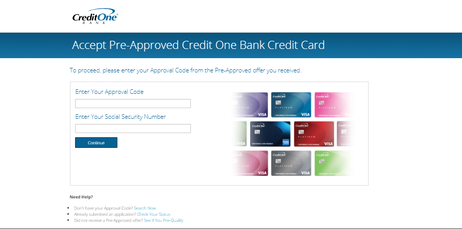 Pre Approved Card Credit One