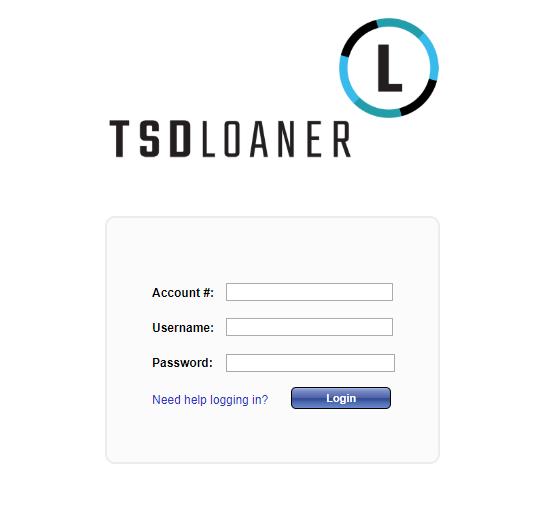 TSD Loaner Online Portal