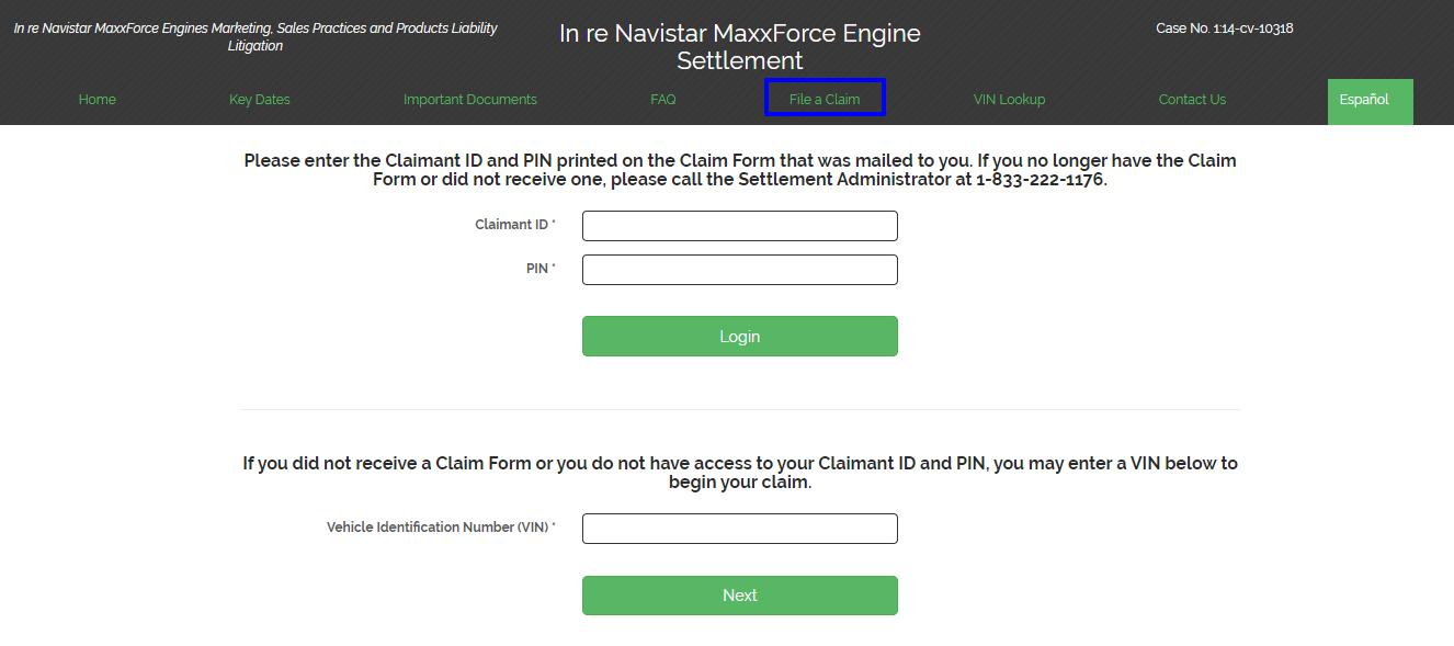 claim Navistar MaxxForce Engine Settlement