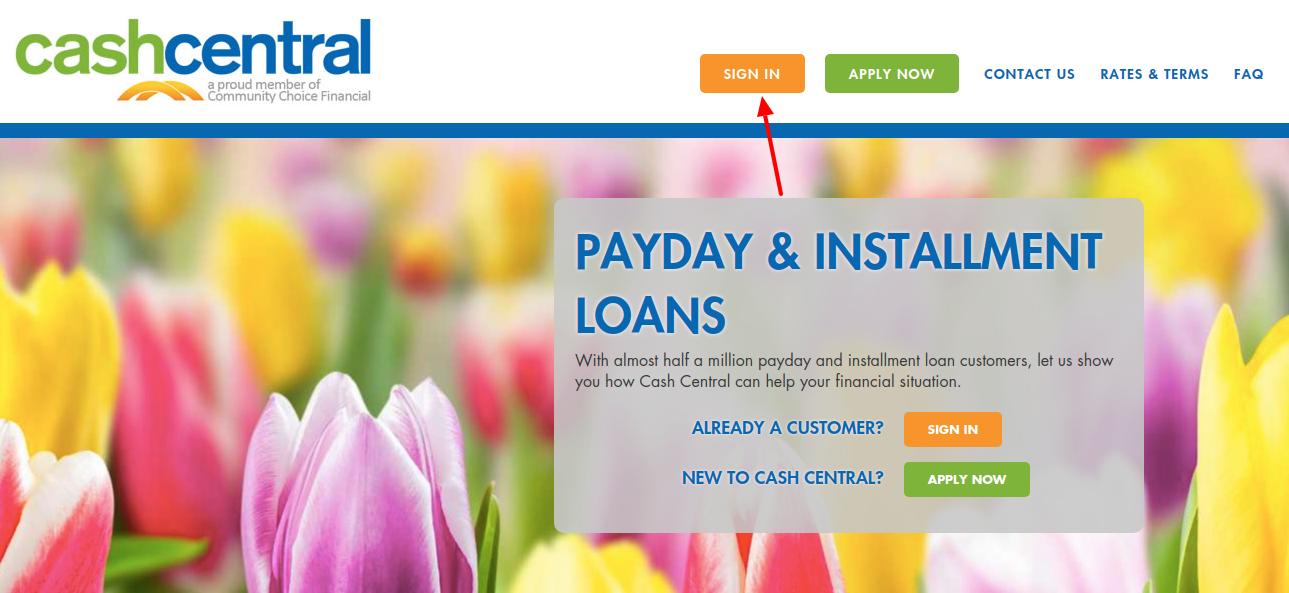 Central CashCentral Login