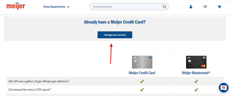 Meijer Credit Card Login