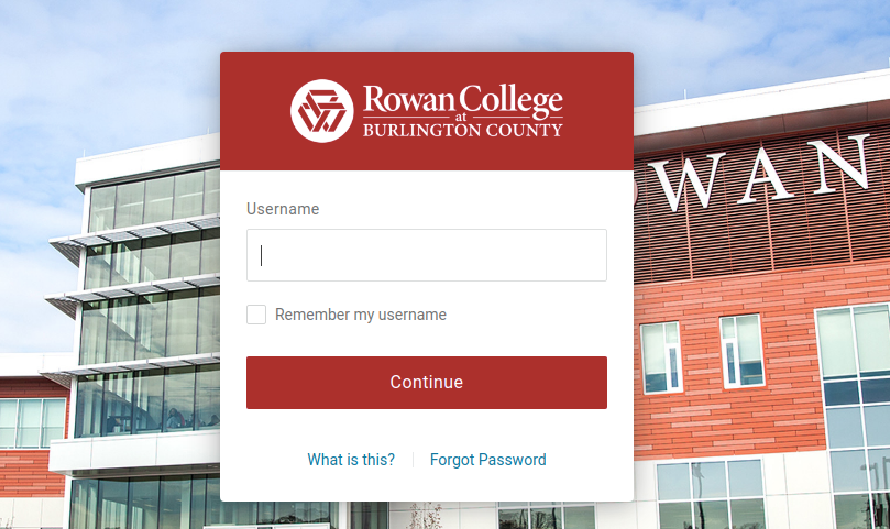 rowan college at burlington county login