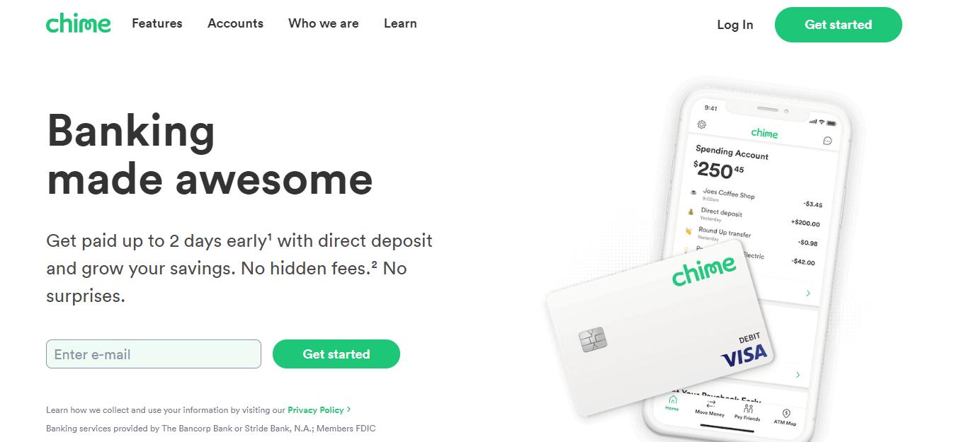 Chime Banking Portal login