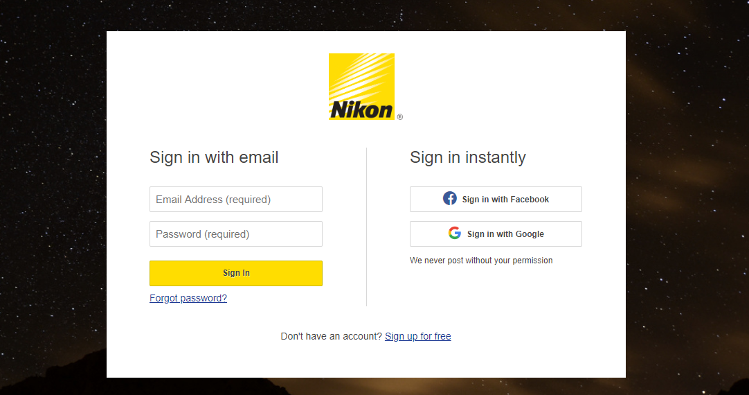 Enroll for Nikon Product Registration to avail Warranty