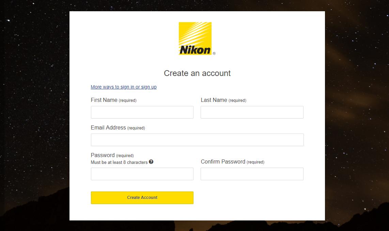 Enroll for Nikon Product Registration