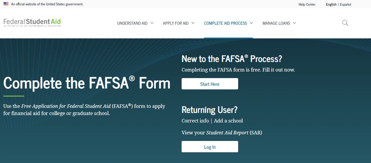 FASFA Login Process