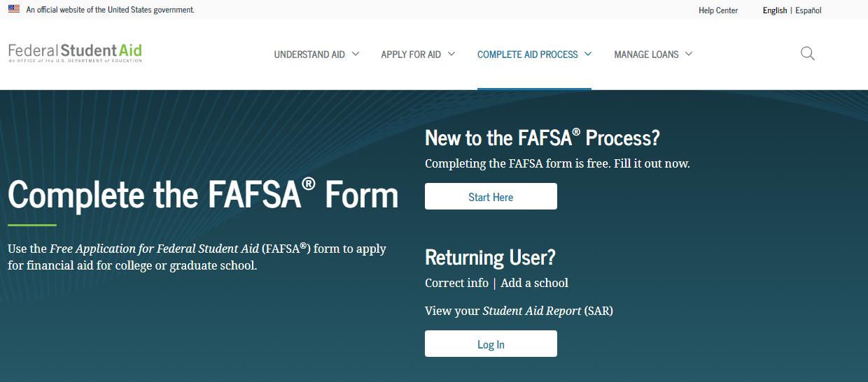 FASFA Login Process