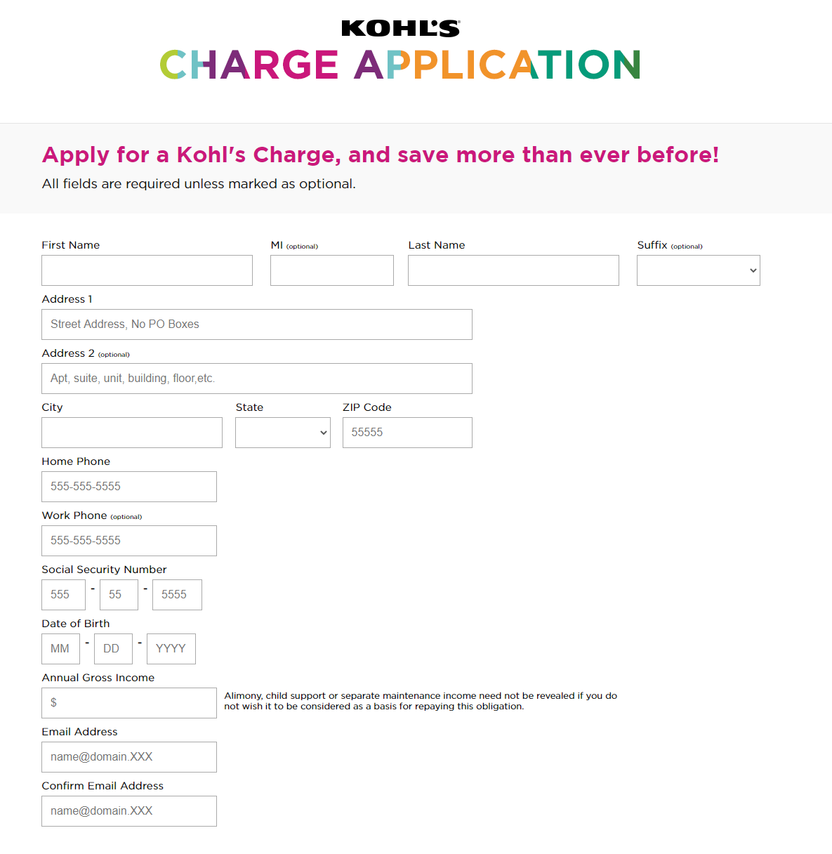 My Kohl's Charge card and Manage Online