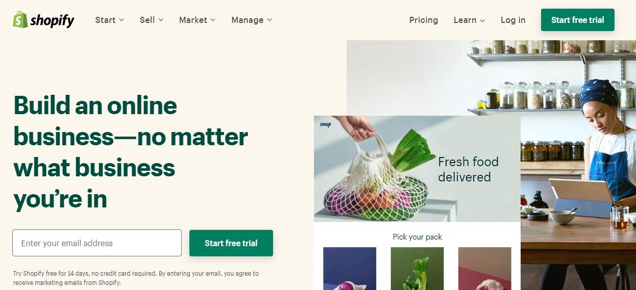 Shopify Online Portal login