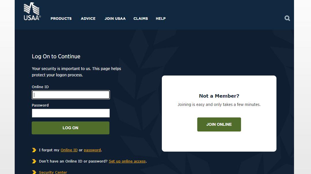 United Services Automobile Association Portal login