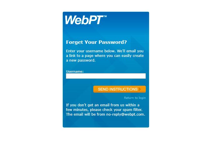 WebPt Patient Portal