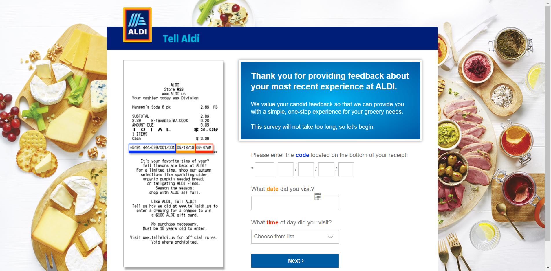 Aldi Customer Feedback Survey