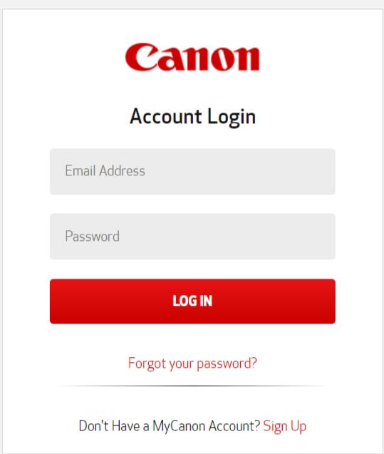canon login