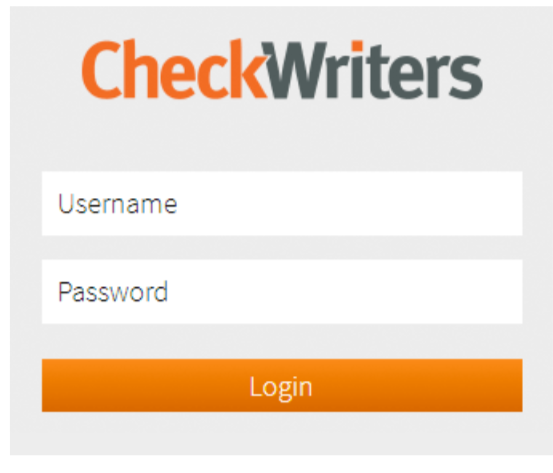 Checkwriter login