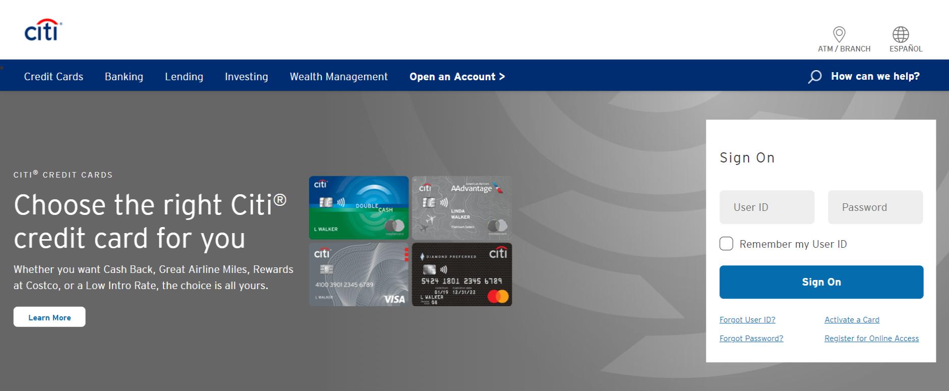Citi credit card activation