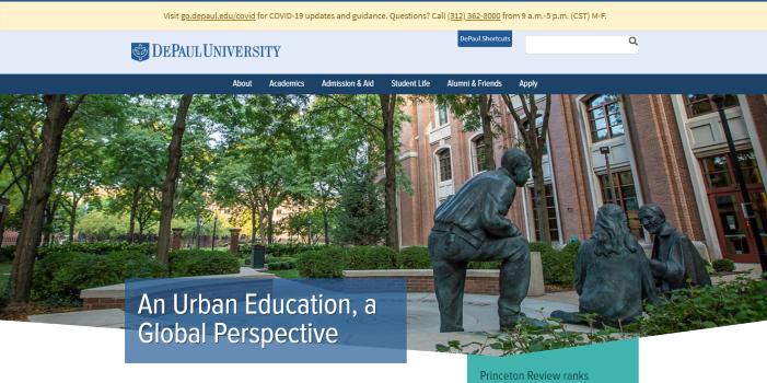 DePaul University portal