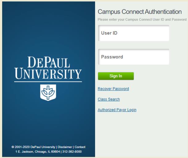 Depaul university Student login