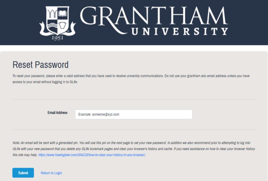 Garntham university Glife student sign in