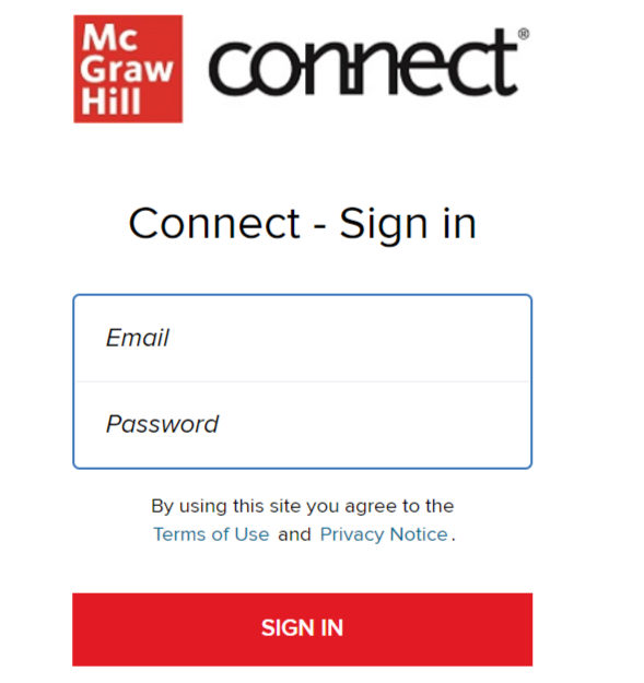 McGraw Hill Connect login
