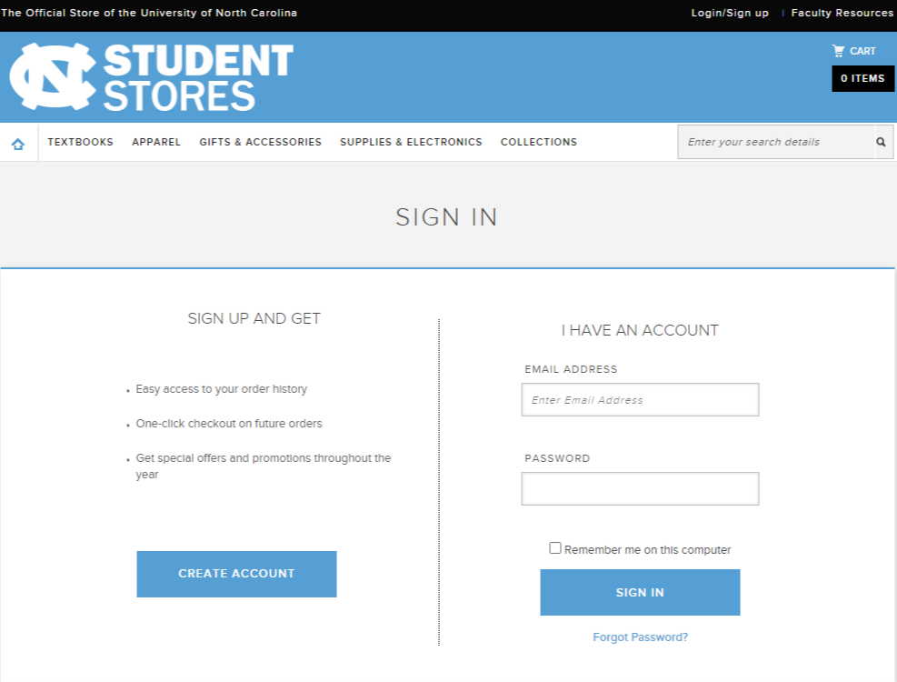 UNC Student login