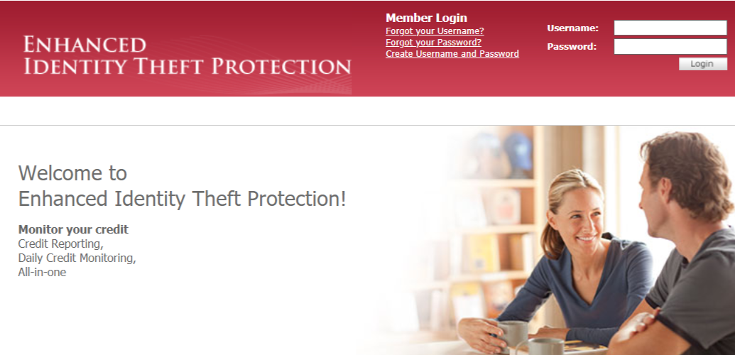 Enhanced identity theft protection portal
