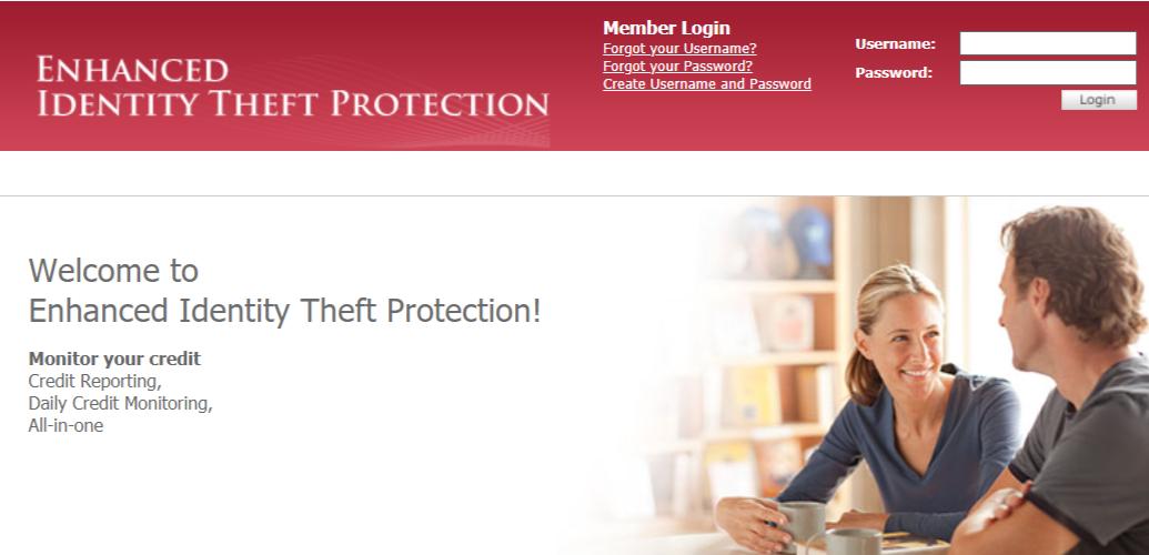 Enhanced identity theft protection portal
