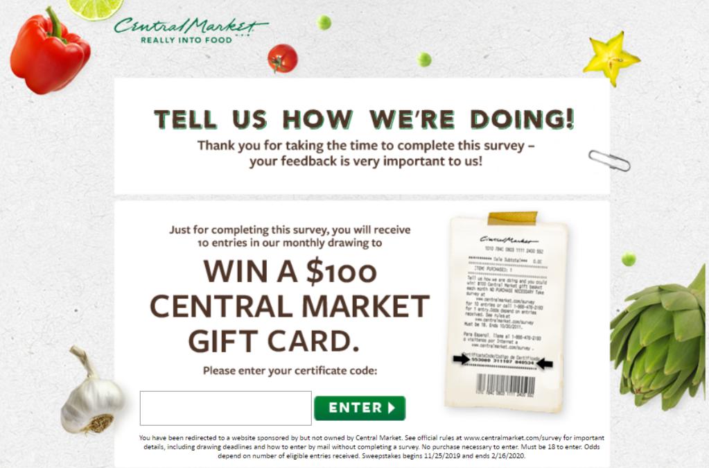 central market survey