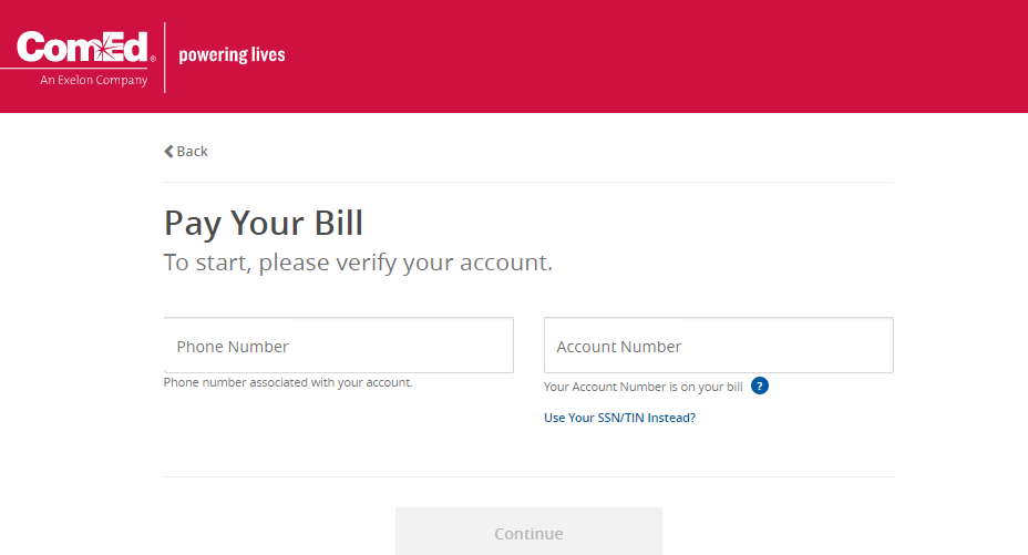 comed bill pay online