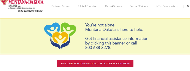 montana dakota utilities login