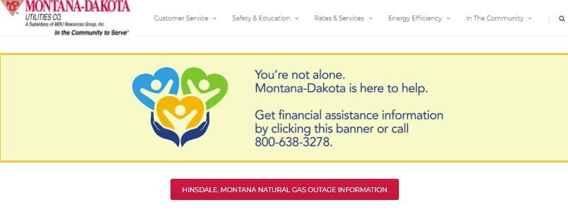 montana dakota utilities login