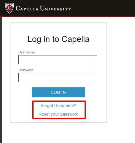 My Capella Login