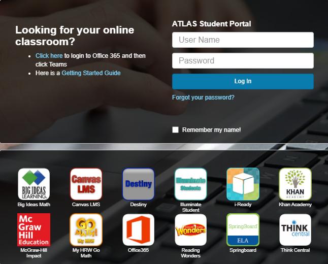 atlas student portal
